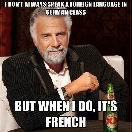 Image result for speak french memes